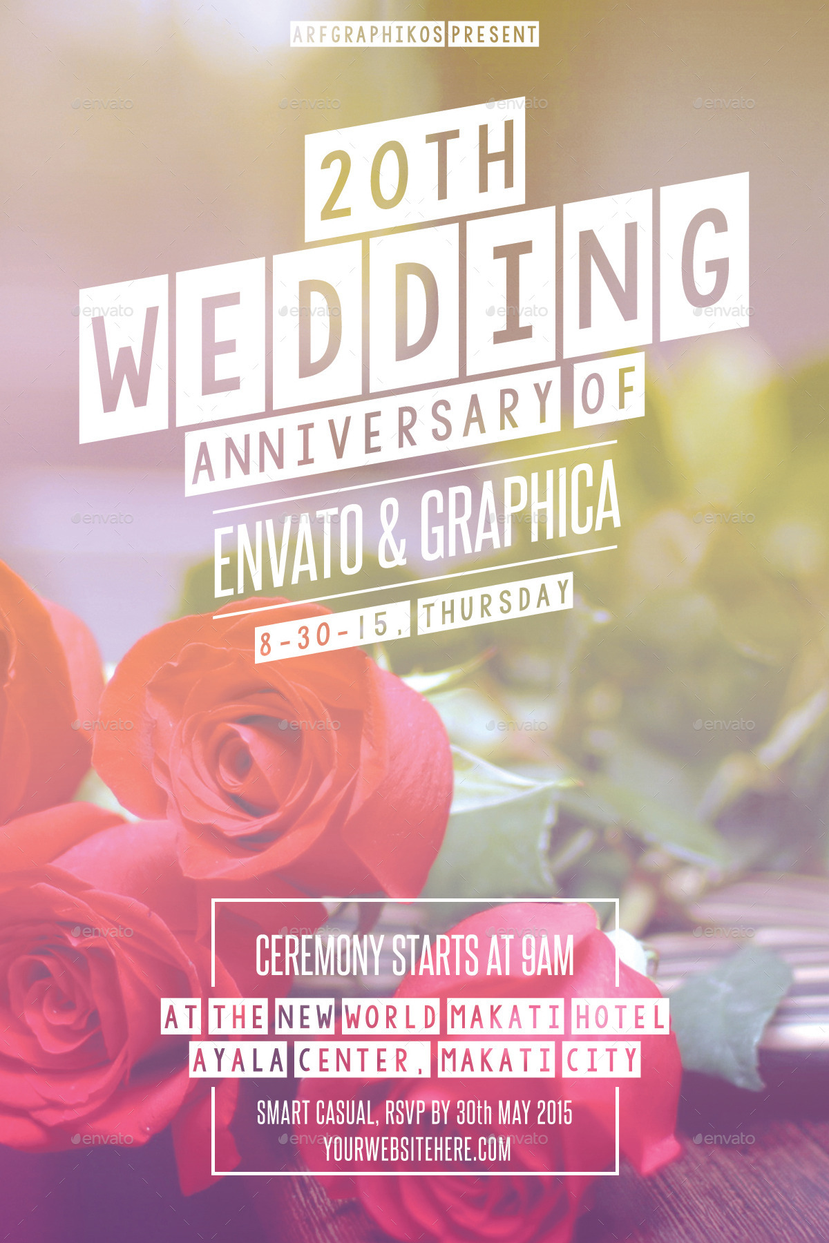 Wedding Anniversary Flyer by arfgraphics | GraphicRiver