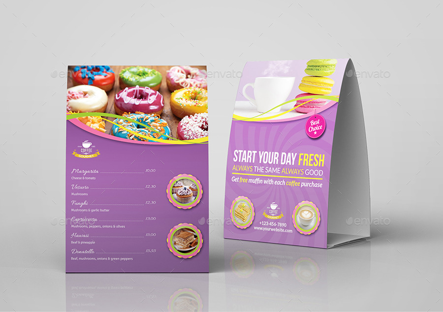 Cafe and Restaurant Table Tent Vol.6 & Cafe and Restaurant Table Tent Vol.6 by OWPictures | GraphicRiver