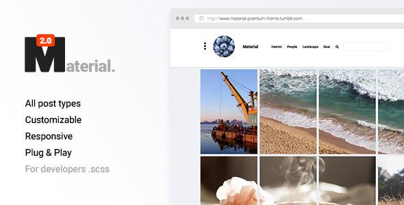 Material 2 – Responsive Portfolio Tumblr Theme