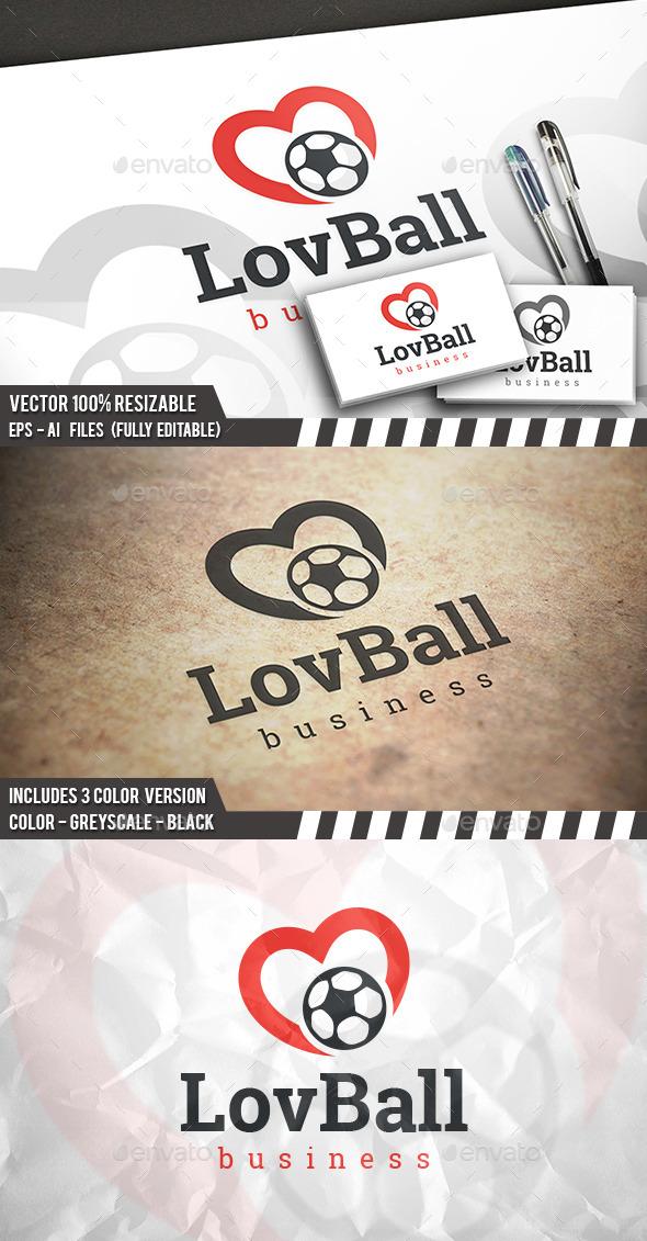 Football Love Logo - Objects Logo Templates