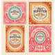 Set of Baroque Cards - GraphicRiver Item for Sale