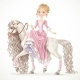 Princess on a White Horse with a Long Mane - GraphicRiver Item for Sale