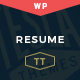Resume - One-Page Creative CV WP Theme - ThemeForest Item for Sale