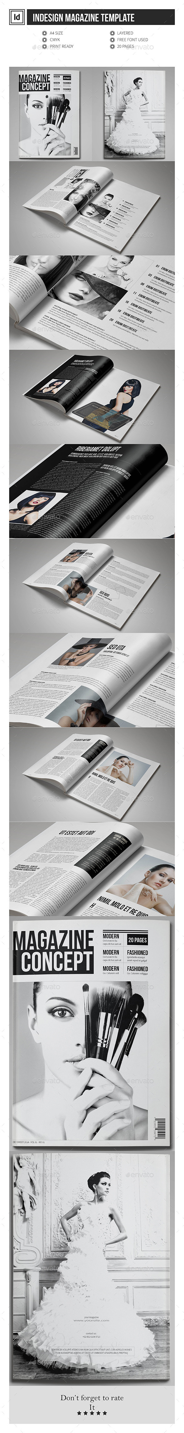 Multipurpose InDesign Magazine Template - Magazines Print Templates