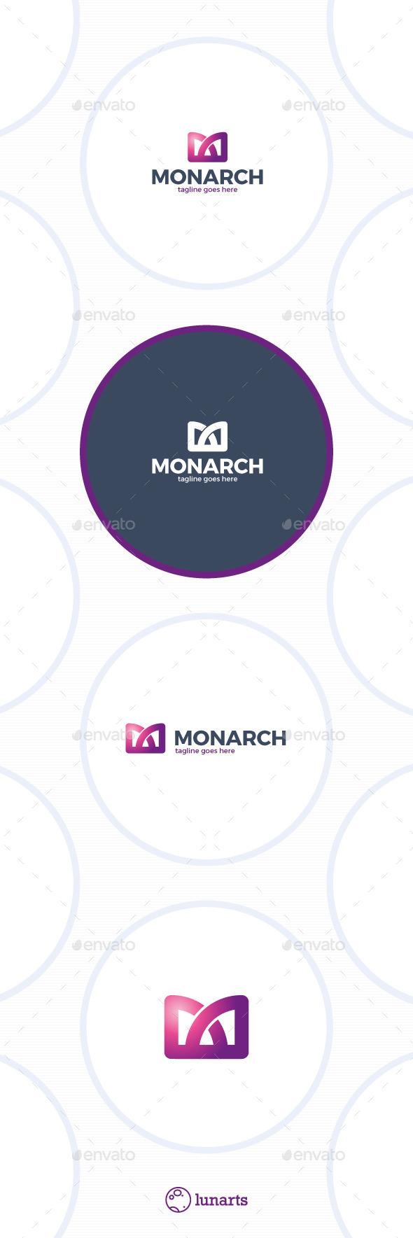Monarch Logo - Letter M - Symbols Logo Templates