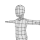 low poly kid base mesh - 3DOcean Item for Sale