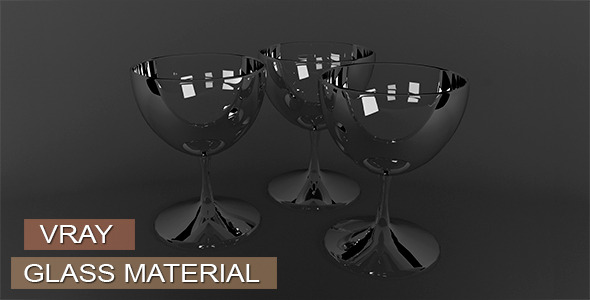 Glass Material VRay - 3DOcean Item for Sale