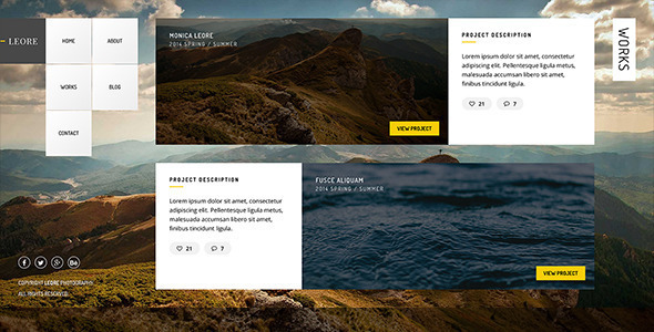 Leore – Creative Photography WordPress Theme