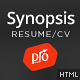 Synopsis - Resume/CV and Portfolio Template Nulled