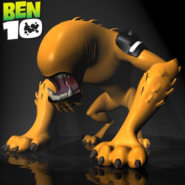 BEN 10 WildMutt RIGGED - 3DOcean Item for Sale