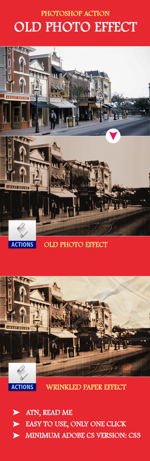Old Photo PS Effect - Photo Effects Actions
