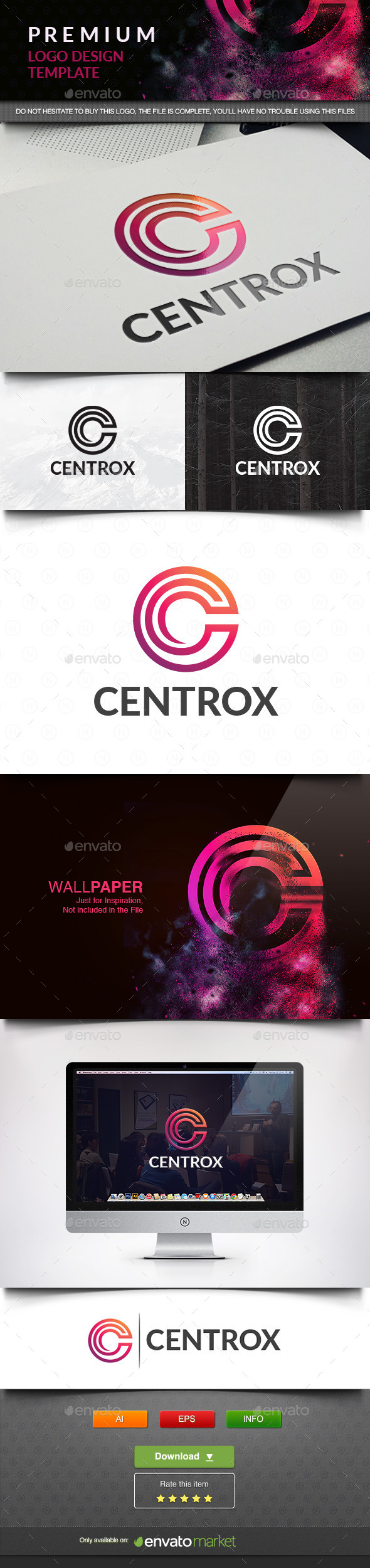 Centrox - Letters Logo Templates