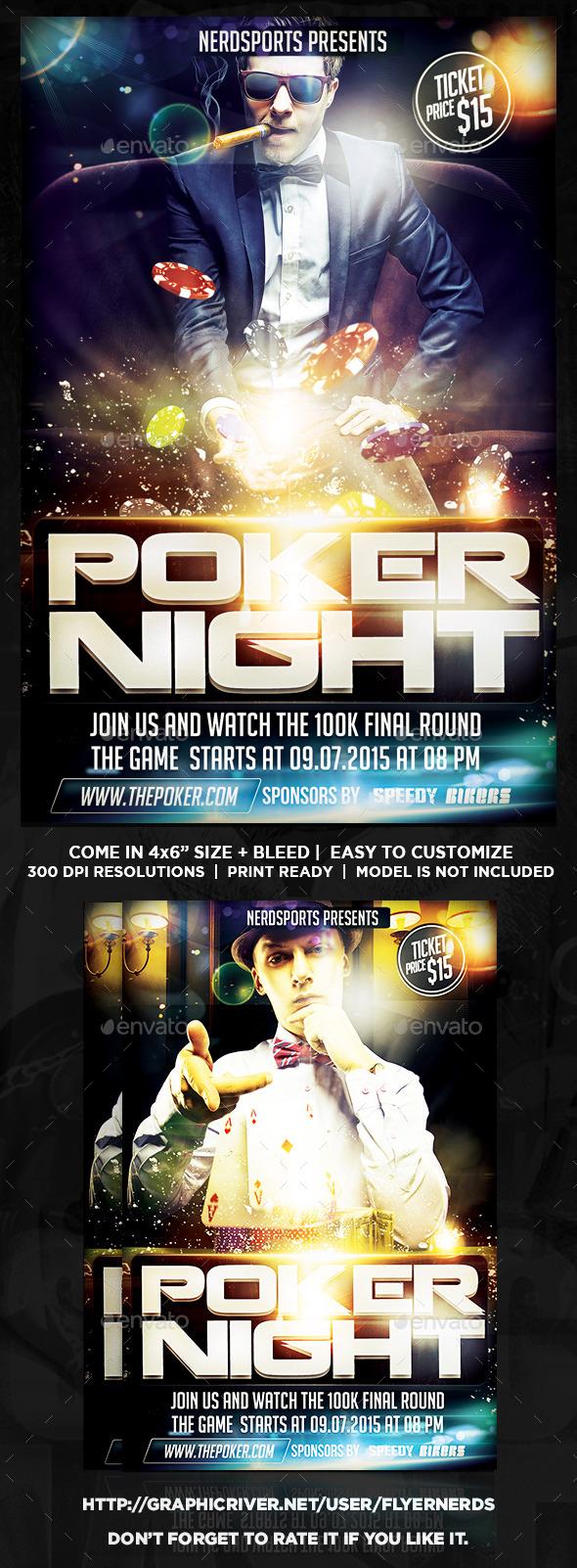 Poker Night Sports Flyer