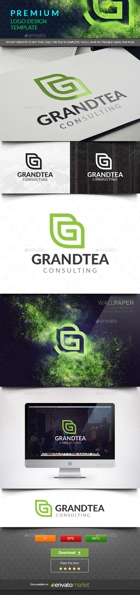 Grand Tea - Abstract Letter G - Vector Abstract