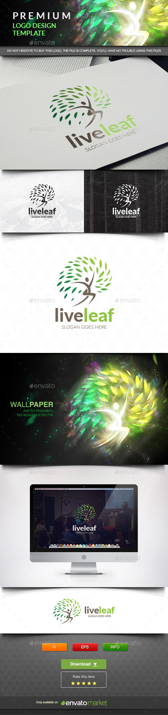 Live Leaf - Nature Logo Templates