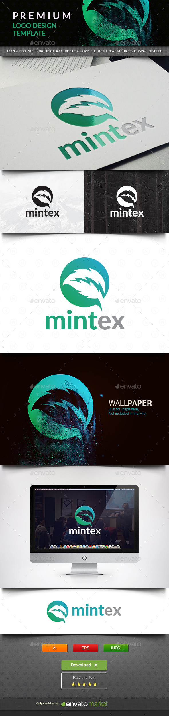 Mint Tech - Nature Logo Templates