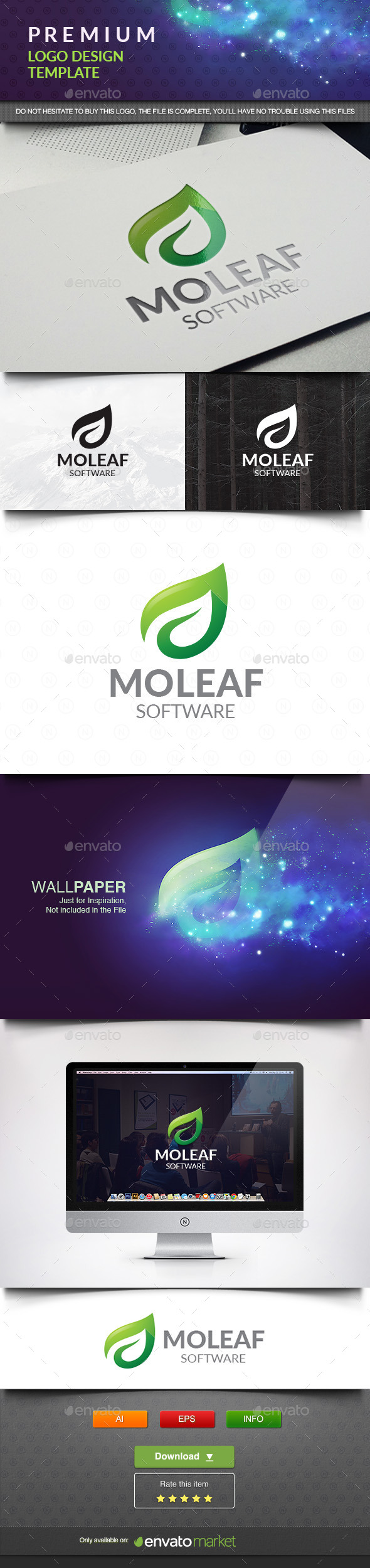 Mo Leaf - Nature Logo Templates
