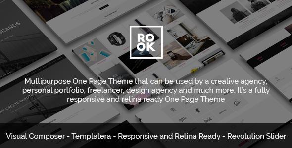 ROOK – Multipurpose Onepage Retina Theme