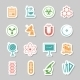 Science Stickers  Icons Set  - GraphicRiver Item for Sale