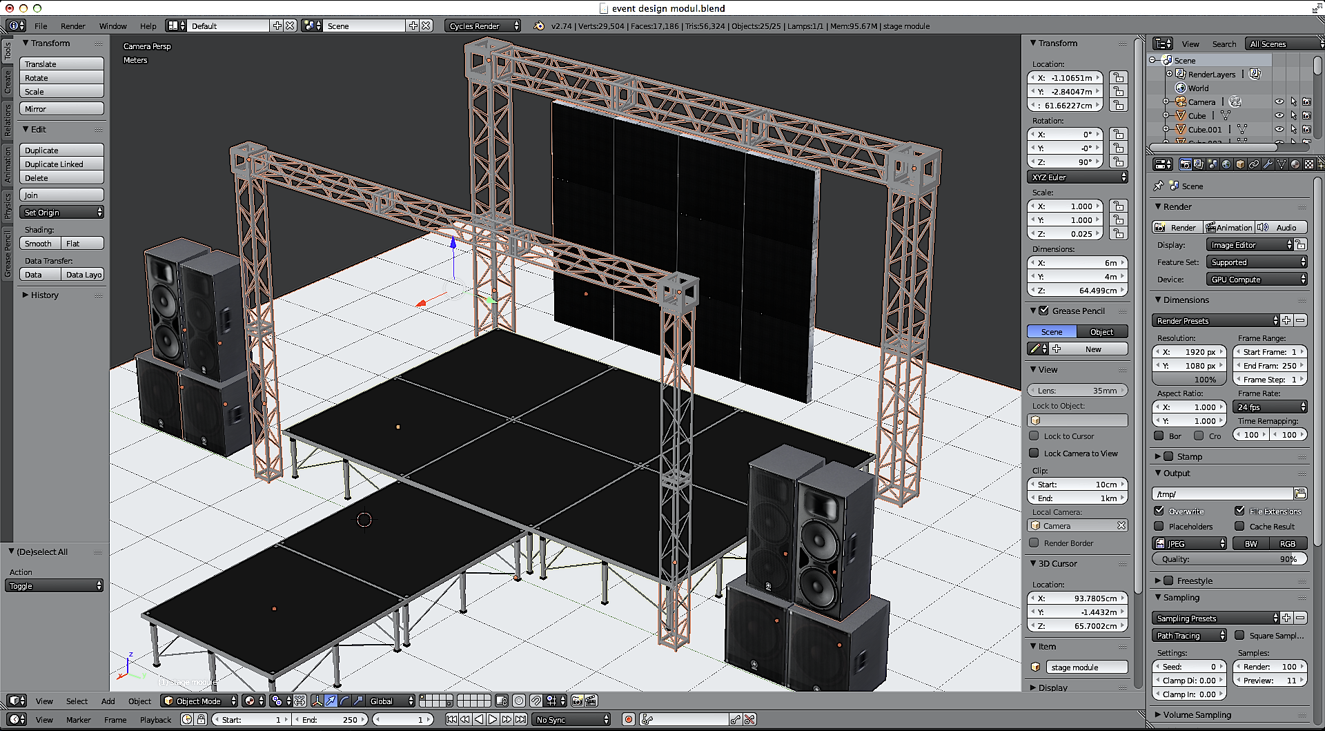 Stage Set Design Module By Holution 3docean