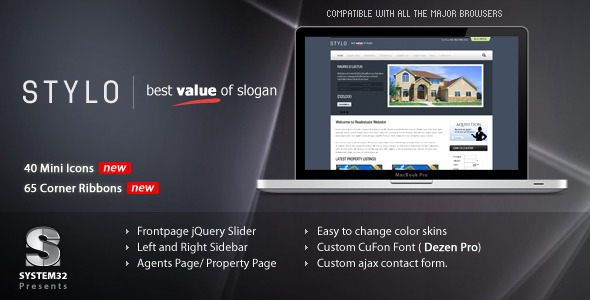 Stylo – Premium Real Estate Template 5 Skins