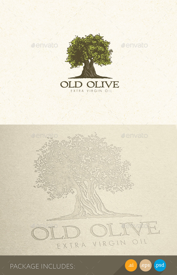 Olive Tree Organic Oil Nature Eco Logo Concept - Nature Logo Templates