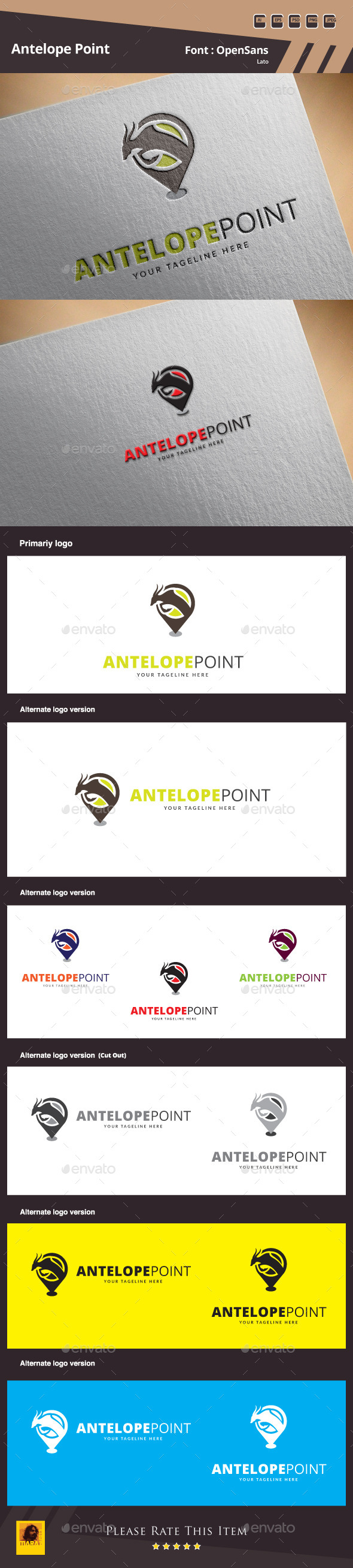 Antelope Point Logo Template - Animals Logo Templates