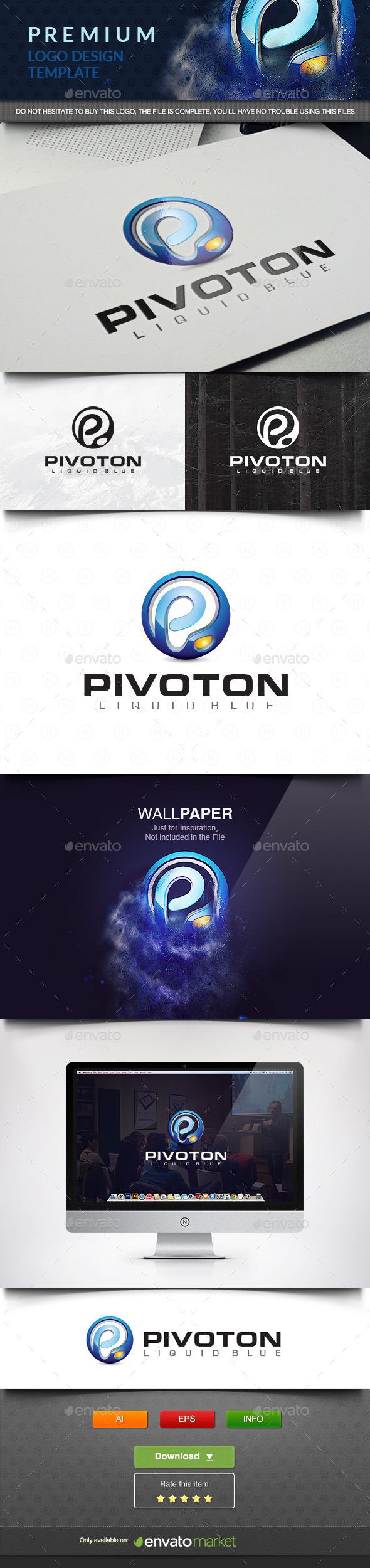 Pivoton Logo - 3d Abstract