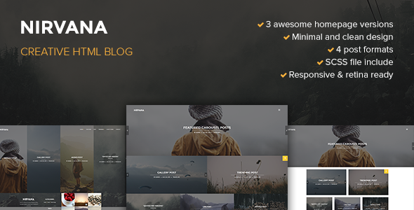 Nirvana Creative Blog Template