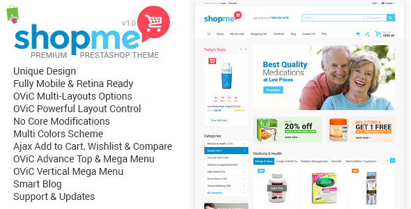 ShopMe – Multi-Purpose Responsive Prestashop Theme