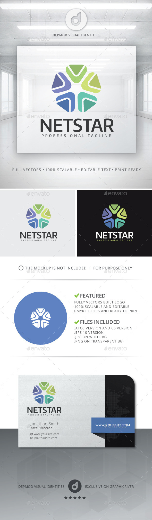 NetStar Logo - Abstract Logo Templates
