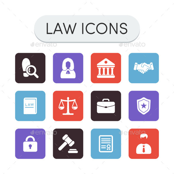 Law Icons Set - Miscellaneous Icons