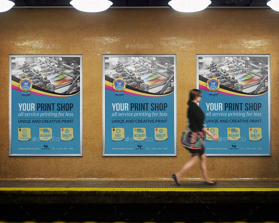 Print Shop Poster Template