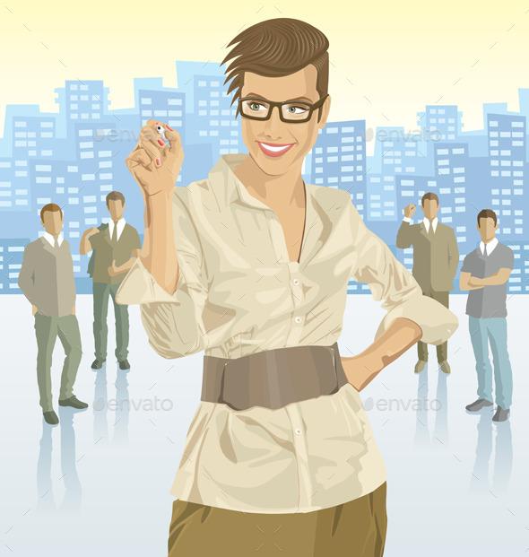 Businesswomen - People Characters