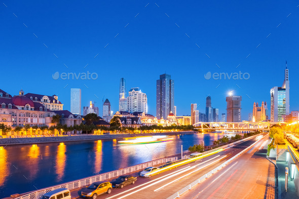 tianjin night view - Stock Photo - Images