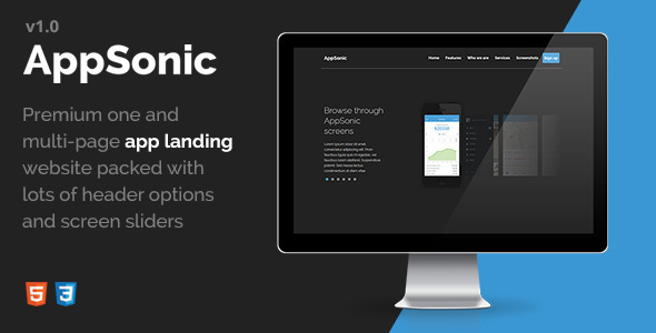 AppSonic - Clean HTML Business App Landing Page