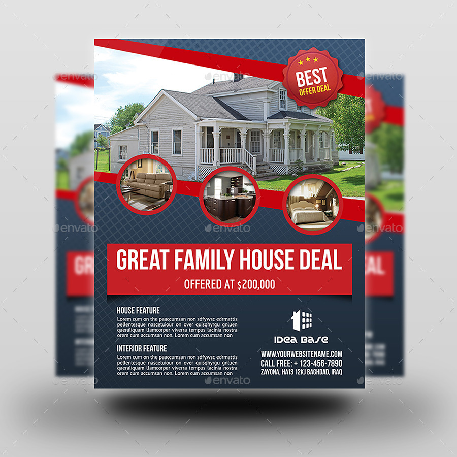 Real Estate Flyer Template Vol By OWPictures GraphicRiver - Free real estate brochure templates