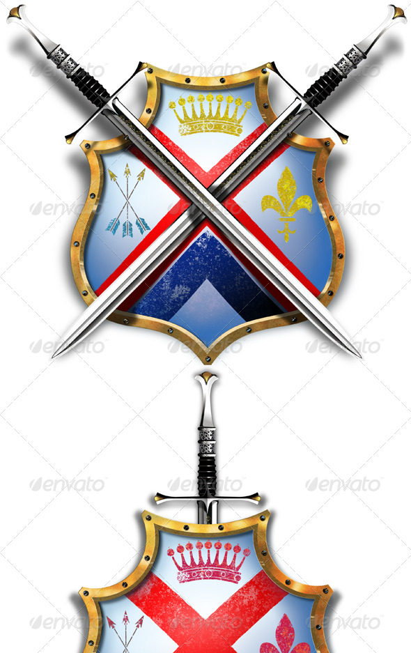Shield with Two Crossed Swords - Miscellaneous Illustrations