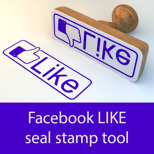 Facebook LIKE seal stamp tool. - 3DOcean Item for Sale