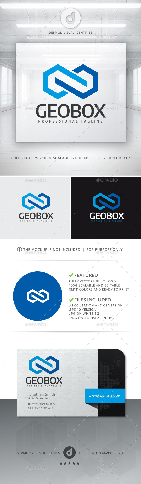 GeoBox Logo - Abstract Logo Templates
