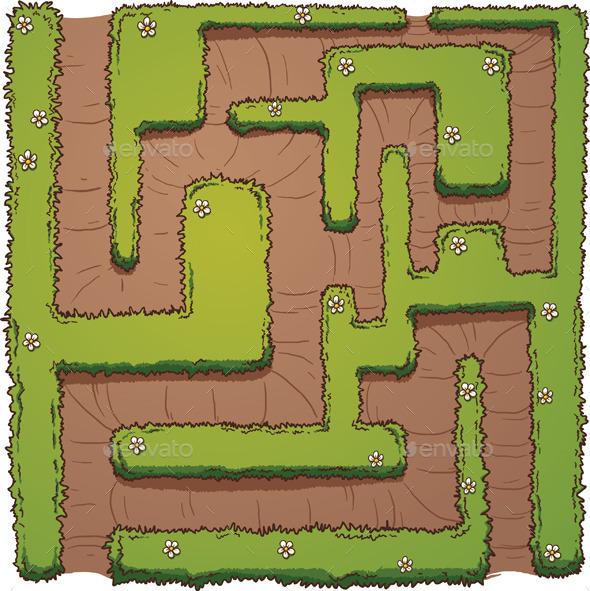 Hedge Maze - Miscellaneous Vectors