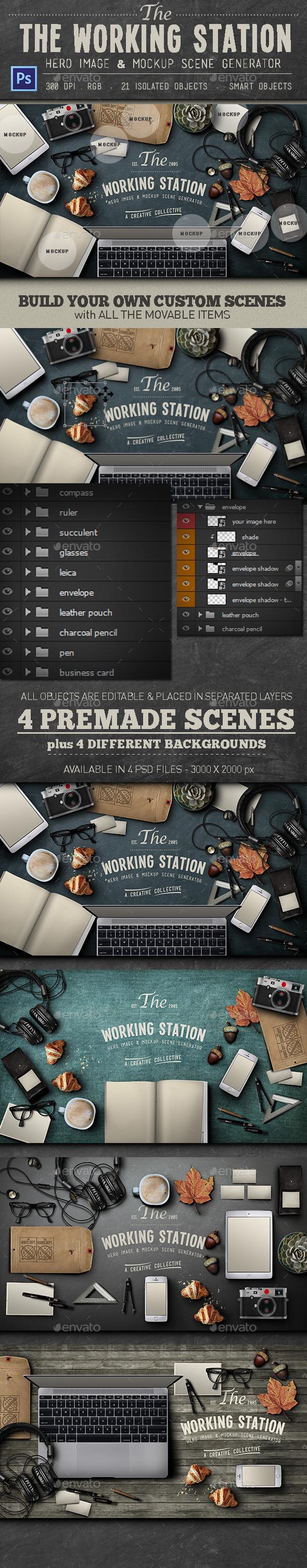 Working Station Hero Image - Hero Images Graphics
