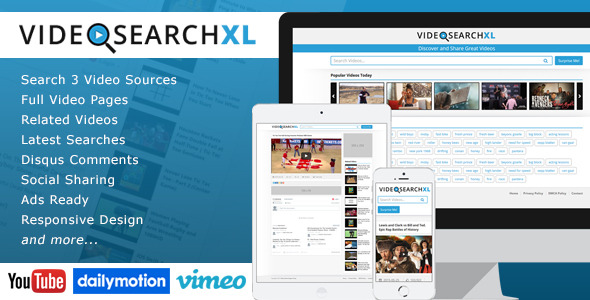VideoSearchXL - Multi Source Video Search Engine nulled free download