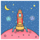 Rocket Landing on the Planet - GraphicRiver Item for Sale