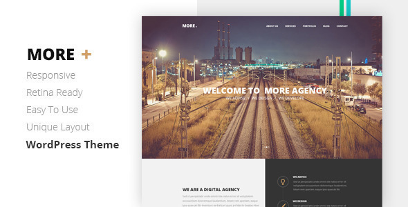 MORE - Creative One Page Wordpress Theme - Creative WordPress