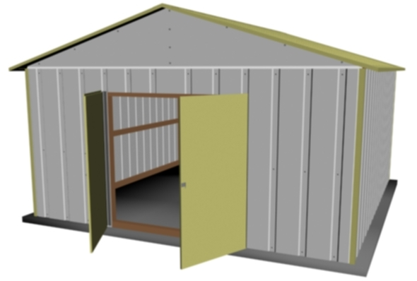 Exterior Metal Shed - 3DOcean Item for Sale