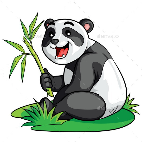 Panda Cartoon - Animals Characters
