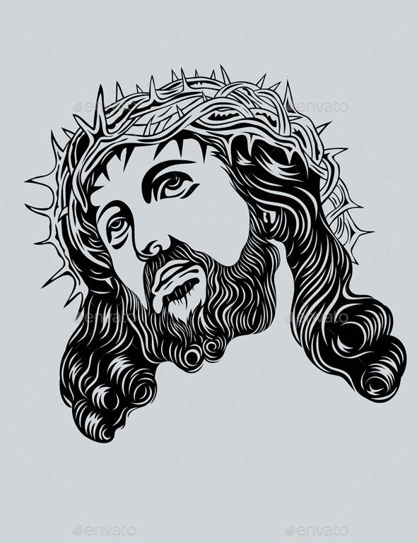 Jesus Christ face - Religion Conceptual