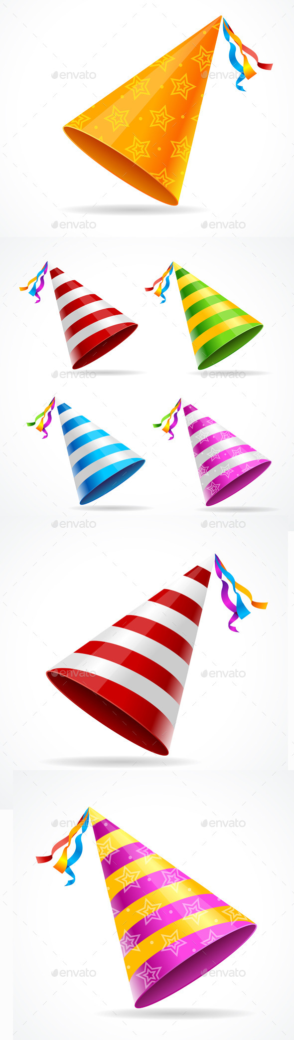 Party Hat Set - Miscellaneous Seasons/Holidays