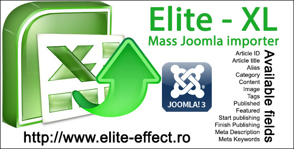Elite-XL - Joomla 3x Mass Content Importer Best Scripts